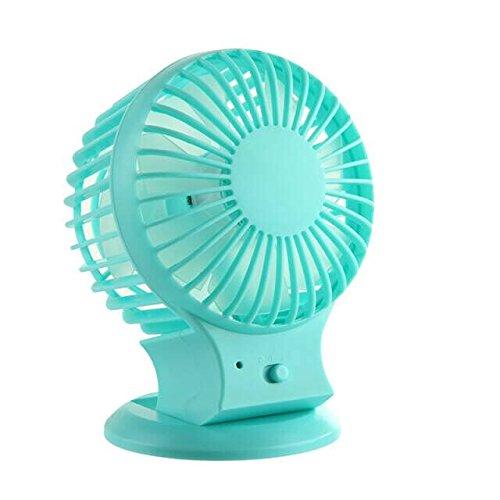 Preisvergleich Produktbild Mini USB Ventilator,  Yanhuanchan Portable Mini Tisch-Ventilator USB Fan mit Doppelklinge,  2 Geschwindigkeit und einstellbar Winkel Desktop Fan für zu Hause,  Büro,  Reisen im Freien,  in der Schule studieren usw (blau)