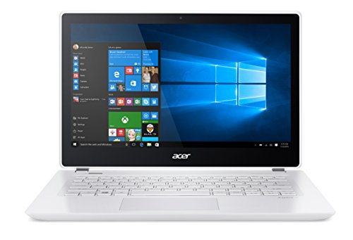 Acer Aspire V3-372-59BJ Portatile, Display da 13.3' HD LED, Processore Intel Core i5-6267U, RAM 4 GB, HDD da 500 GB, SSD da 8 GB, Bianco