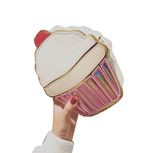 Beaums 3D Leder Popcorn Hamburge Ice Cream Fries Messenger Bag Schultertasche Umhängetasche