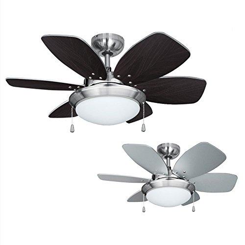 MiniSun - Ventilador de techo con luz, faro de diseño - para...