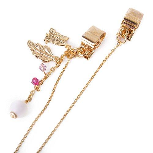 CHARM Casualbox | Hut Fixiermittel Halskette Clip Zubehören Uv Lesen Schön Elegant Schmetterling Gold