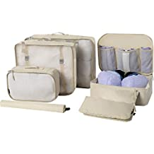 Eono Essentials 7-Pcs Lightweight Luggage Packing Organizers Packing Cubes for Travel Accessories