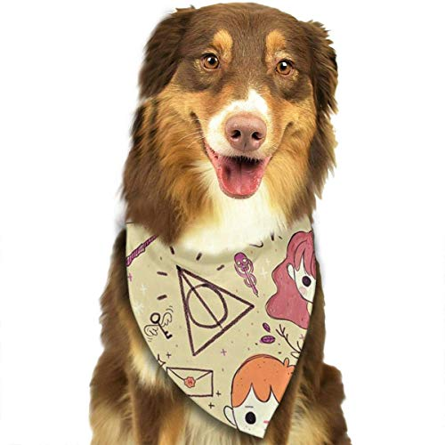 Sdltkhy Girl Pet Bandana Washable Reversible Triangle Bibs Scarf - Kerchief for Small/Medium/Large Dogs & Cats (Das Halloween Für Ring-girl-kostüm)