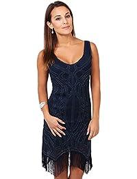KRISP® Femmes Robe A Franges Glamour Vintage