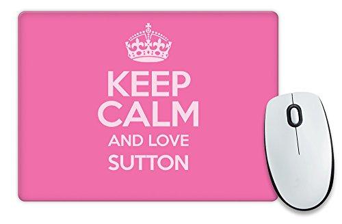 """Colore: Rosa e scritta """"Keep Calm and Love Sutton-Tappetino per il Mouse COLOUR 0638-Stivaletti alla caviglia"""