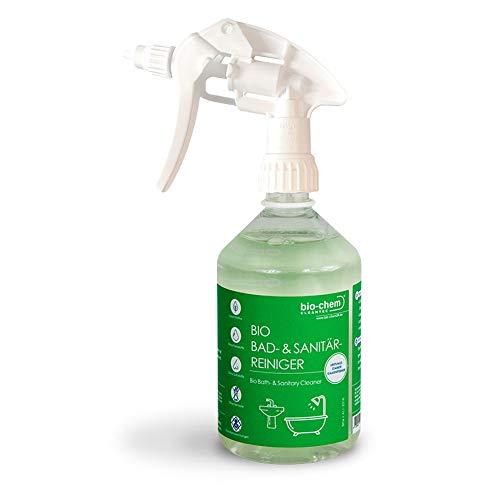 bio-chem Bad- und Sanitärreiniger Kalkentferner mit Lotuseffekt für Bad, Dusche, WC und Spülbecken (500 ml)
