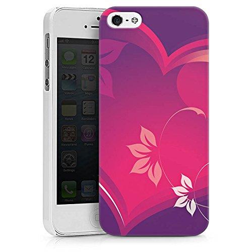Apple iPhone X Silikon Hülle Case Schutzhülle Liebe Herz Blumen Hard Case weiß