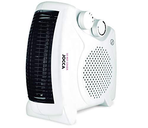 Jocca 2826 Calefactor plano/pie, color blanco, 2000 W