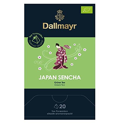 4 x Dallmayr Japan Sencha grüner Tee Bio 20 Pyramiden 2,5g