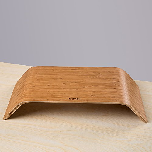 Samdi Universal Desktop Computer Monitor Heighten Wooden Stand Dock Holder Display Bracket for iMac PC Notebook Laptop (Beige)