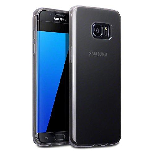 TERRAPIN Galaxy S7Edge Schutzhülle, extradünn, Schutzhülle für Samsung Galaxy S7Edge, Gel, TPU - Smoke Black, Samsung Galaxy S7 Edge Smoke Tpu Gel