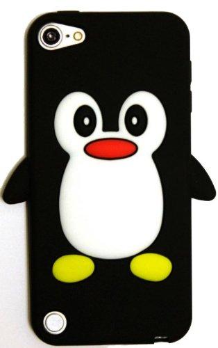 SKS Distribution® schwarz Apple Ipod Touch 5 Pinguin niedlichen Tier Silikonhülle Shell Beschützer Handy Smartphone Zubehör