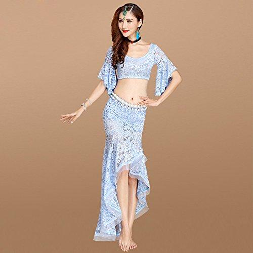 Xueyanwei Professionelle Frauen Bauch Tanz Rock Set Bauch Tanzpraxis Dress Indian Dance Performance ()