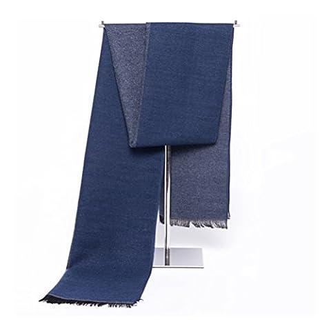 LEORX hommes d'hiver chaud longue écharpe épaisse à rayures voile longue écharpe châle à franges