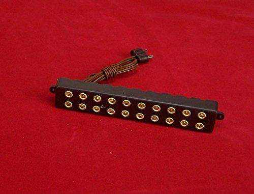 Kahlert Licht 0694611 - Miniatur - Verteilerleiste mit Stecker für Trafo, 10 Steckdosen, braun - Kerze-fach Runde