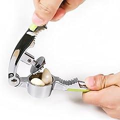 Idea Regalo - Kaifang Professional Spremiaglio Crusher tritacarne e schiaccianoci in acciaio INOX strumento (nero)
