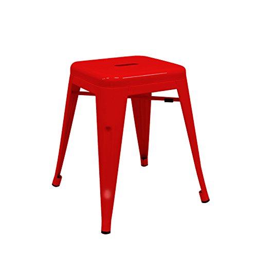 regalosMiguel - Taburete Industrial Torix Pequeño Rojo (Inspirado en la Línea Tolix)