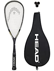 Head Intelligence i.110 Squash Racket + 3 Squash Balls