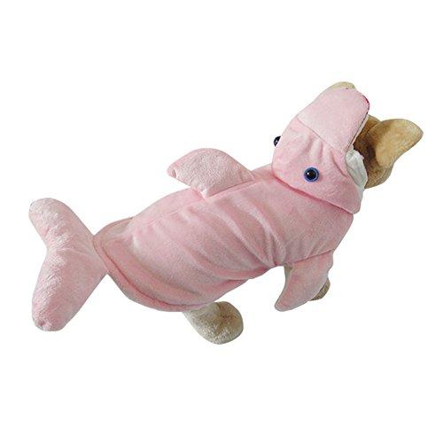 OMEM Dreidimensionale Delphin Halloween Kostüme, Kleid Weihnachten gestreift weiche Winter dicke Schwammhaarlamellendesign (XL, pink)