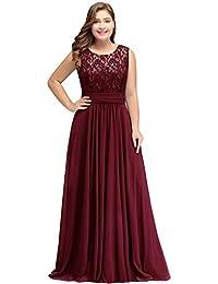 4dbdda99e6b Misshow Abendkleider Elegant Spitzenkleid Chiffon Lang Abendkleid Elegant  Ball Abschlussballkleid