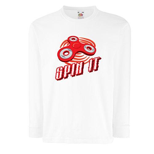 T-shirt pour enfants avec des manches longues Spin It - pour qui aime jouer au