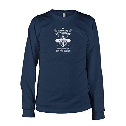 TEXLAB - Tätowierte Oma - Langarm T-Shirt Dunkelblau