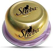 SHEBA Tuna and Prawn Domes Cat Food, Multipack, 24 x 80g