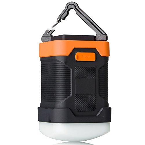 Preisvergleich Produktbild Milool LED-Campinglampe Wasserdichte (IP65) CampingLaterne mit 10000mAh Powerbank, Outdoor wiederaufladbare leistungsstarker mit 2A Ausgang USB-Aufladung für Camping, Wandern, Fischen und auch Notfälle(orange)