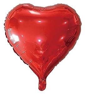 Idena 38213 - Globo con forma de corazón, color rojo