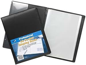 12x A4Deluxe Couverture affichage livre noir en cuir rembourré Look Vues Format A4