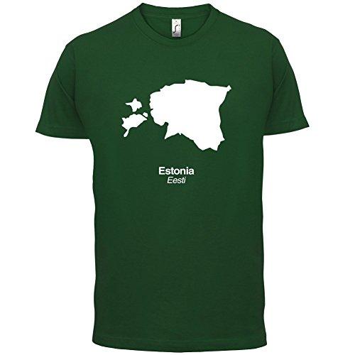 Estonia / Estland Silhouette - Herren T-Shirt - 13 Farben Flaschengrün