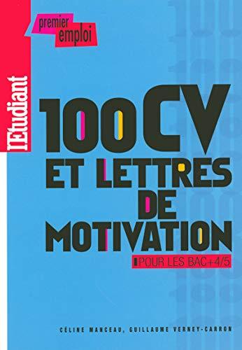 100 CV et lettres de motivation pour les BAC +4/5