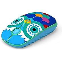 Jelly Comb Ratón Inalámbrico de 2,4 GHz con Receptor Nano para Ordenador Portátil / Macbook / Tableta, Preciso y Silencioso (búho)