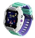 JBC - Orologio per bambini con telefono GPS, impermeabile, senza funzione di intercettazione, SOS+chiamata di emergenza + funzione telefono, posizionamento Live GPS+LBS