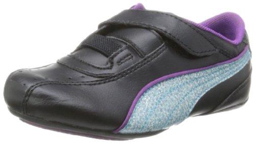 Puma  Tallula Glamm V Kids, Low-top fille Noir (black-blue atoll-sparkling grape 13)