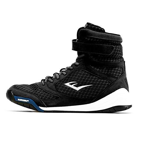 Everlast Unisex-Erwachsene PRO Elite HIGH TOP Shoe 40 (9) Boxschuhe, Schwarz (Black Black), EU