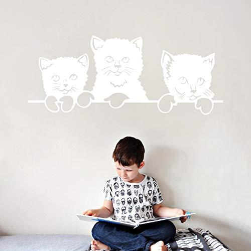 Explosionsmodelle, Kreative Katzen, Ein Wandaufkleber, Sofa, TV-Hintergrund, Wanddekoration, Aufkleber, Papier, Selbstklebend, Abnehmbar Weiß 28,5 * 70 cm * 1 Stk