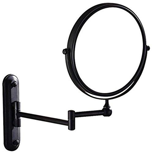 GuRun Doppel Wand Kosmetikspiegel, 7-Fach Vergroesserung und Normal,Durchmesser 20cm, Oel bronze M1207O(20cm,7x)