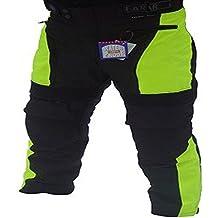 Bikers Gear UK Pantalón de moto con refuerzo –Térmico/impermeable alta visibilidad talla EU 40 CORTE LARGO