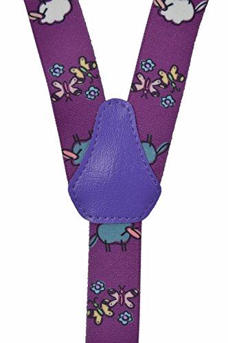 Bretelles entièrement réglable pour les enfants 1-5 ans - Mouton motif Violet