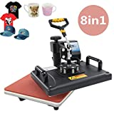Heat Press Machine Multifunctional Printer Transfer Sublimation for T-Shirt/Mugs/Cup Hat/Cap …