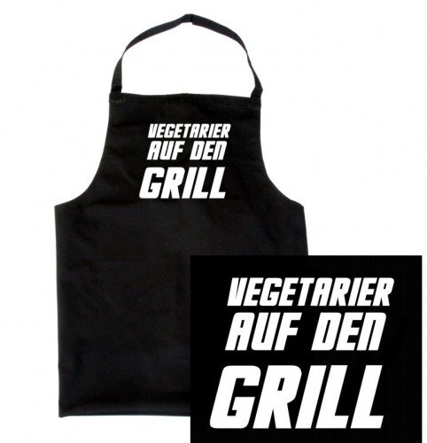 Touchlines vEGETARIER sur le barbecue !-bBQ tablier de barbecue avec inscription «grillen