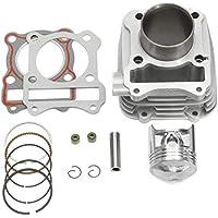 VISTARIC Juego de reconstrucción del cilindro y la posición del cilindro para Suzuki GN125 DR125 GZ125 GN GZ GS125