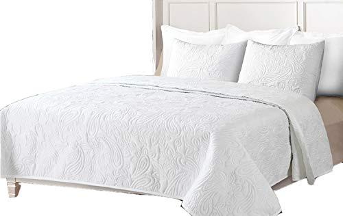Colcha Boutí Liso +Cuadrantes BEGUR (Blanco, 270x260+2 cuadrantes (para cama de 180/200))