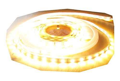 6100 Lumen 5m Ultra-Highpower LED Streifen mit 300 2835 LED's warmweiß warm weiss weiß superhell 24V ohne Netzteil von AS-S