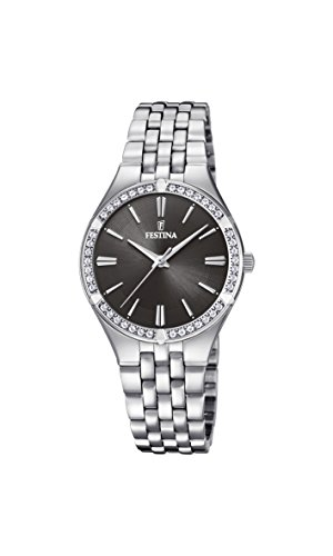 Festina Womens Analogue Classic Quartz Watch with Stainless Steel Strap F20223/2