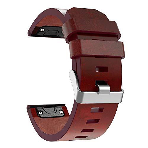 Questionno Leather Wrist Watch Band Bracelet Strap 26mm for Garmin Fenix 3 Fenix 5X