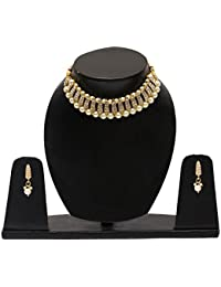 Fresh Vibes | Traditional Wedding Wear Pearl Necklace And Earrings Set For Ladies | Womens Golden Jewellery Set...