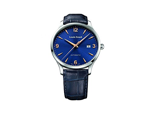 Louis Erard 1931 Automatic Watch, Blue, Leather Strap, 69219AA15.BDC84