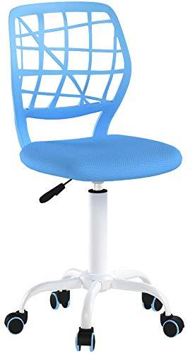 Silla de escritorio Fanilife, ajustable y giratoria sin brazos de diseño, para...